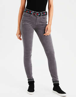 High-Waisted Corduroy Jegging