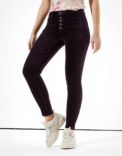 AE High-Waisted Velvet Jegging