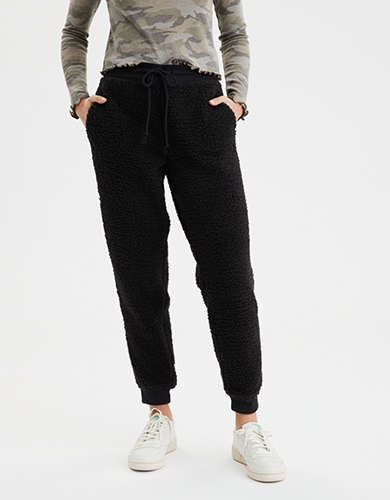AE High-Waisted Sherpa Jogger