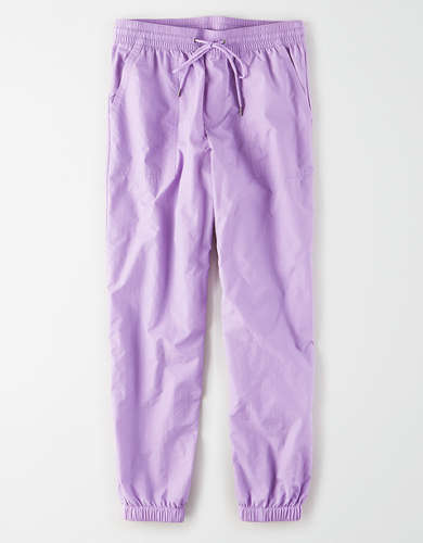 AE High-Waisted Nylon Windbreaker Pant