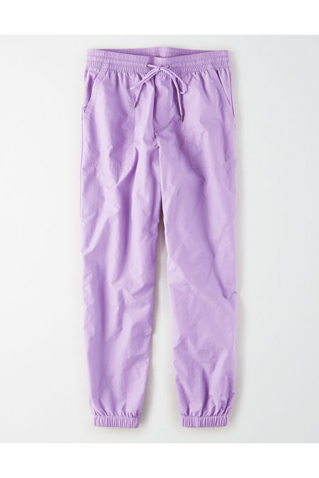 70s Workout Clothes | 80s Tracksuits, Running Shorts, Leotards High-Waisted Nylon Windbreaker Pant Womens Purple XXL $24.97 AT vintagedancer.com