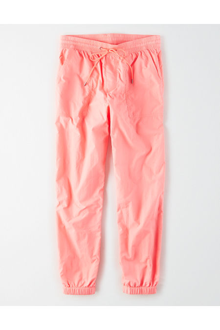 Vintage High Waisted Trousers, Sailor Pants, Jeans High-Waisted Nylon Windbreaker Pant Womens Neon Coral XXL $37.46 AT vintagedancer.com