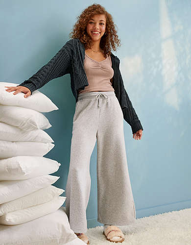 AE Forever Fleece Wide Leg Sweatpant