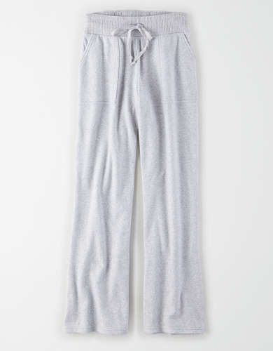 AE High-Waisted Fleece Flare Sweatpant