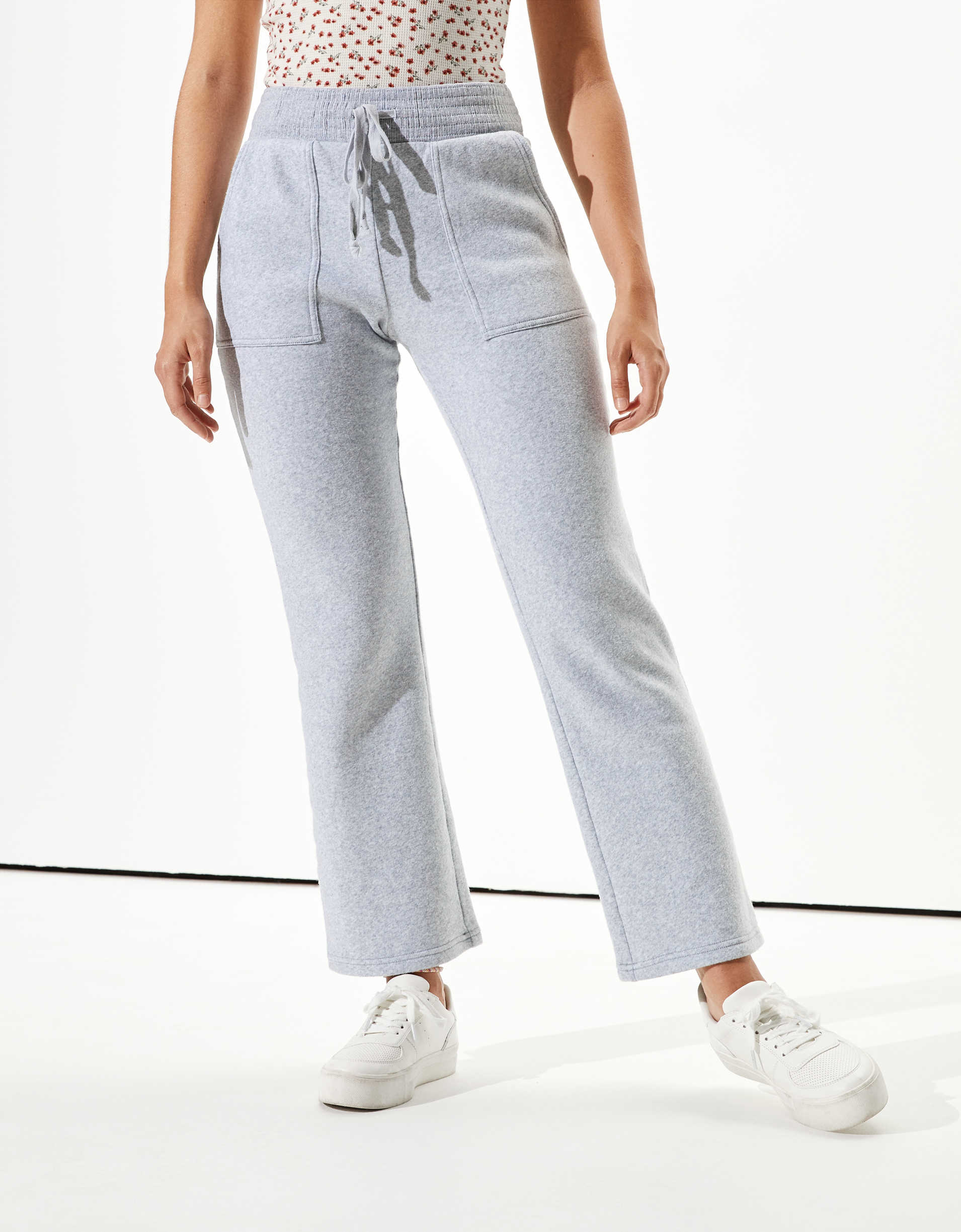 AE High-Waisted Forever Fleece Flare Sweatpant