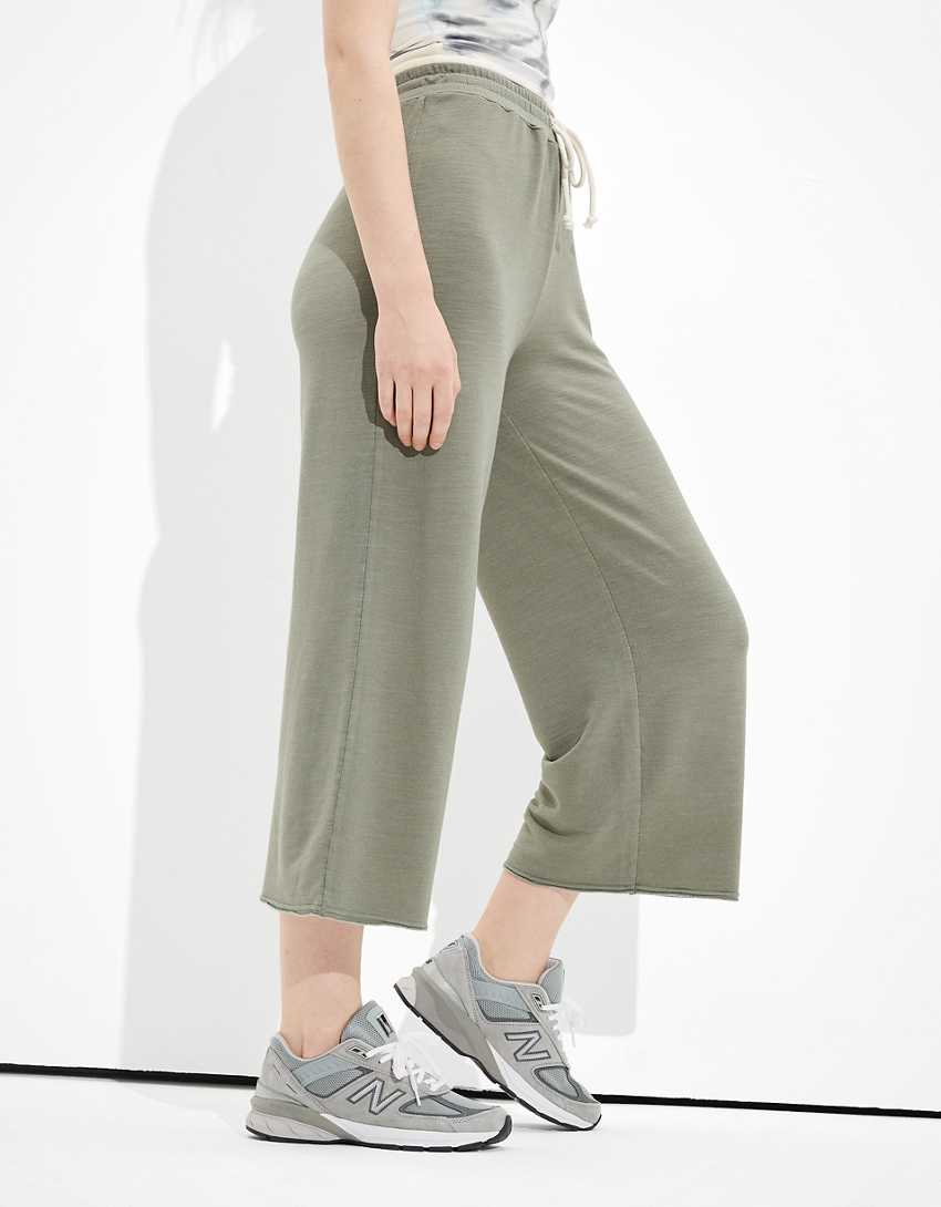 AE Cropped Wide Leg Pant