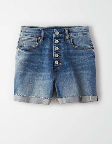 Curvy Denim Mom Short