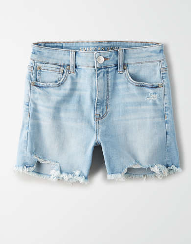 AE Ne(X)t Level High-Waisted Denim Midi Short