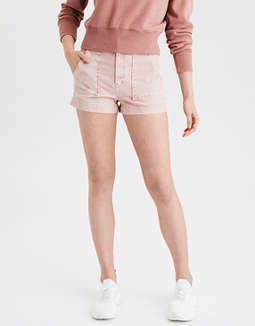Super High-Waisted Corduroy Short Short