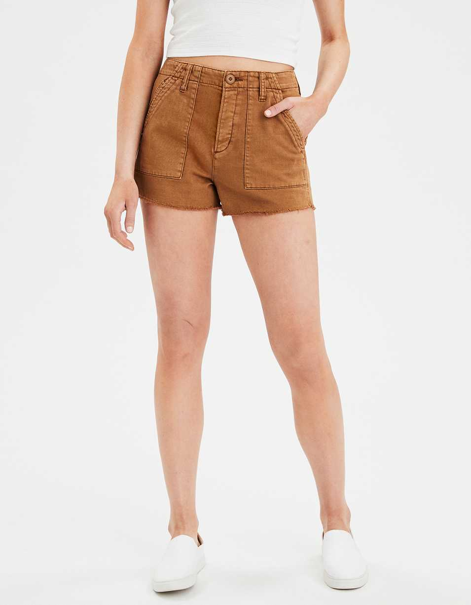AE Super High-Waisted Utility Denim Short Short