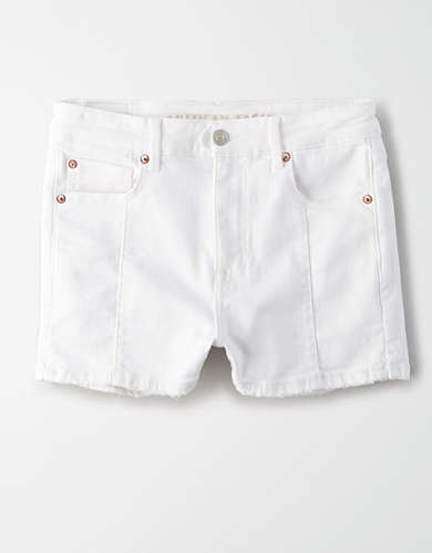 Super High-Waisted Denim Short Short