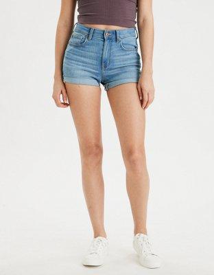 buy high waisted denim shorts