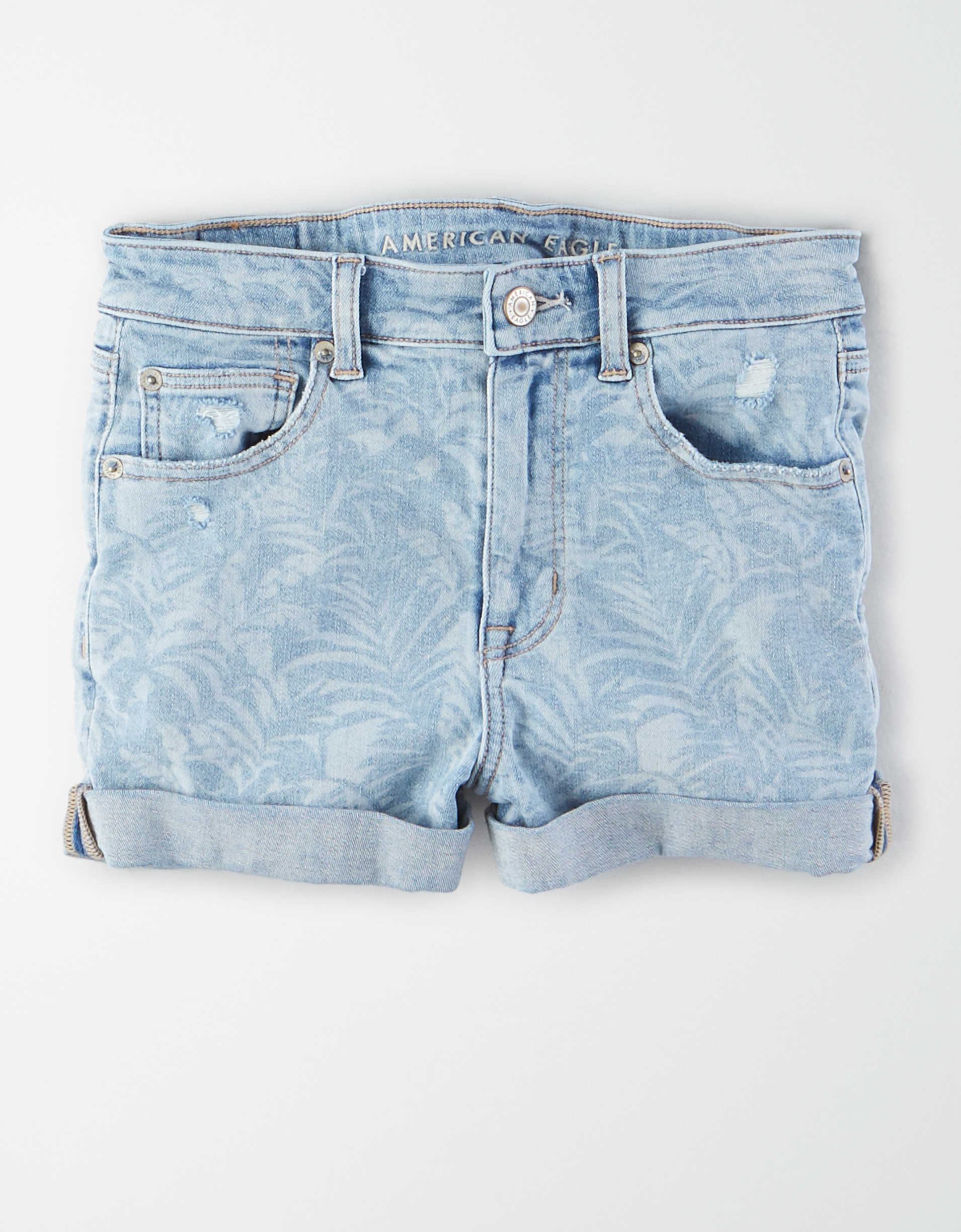 AE Ne(x)t Level Super High-Waisted Denim Short Short