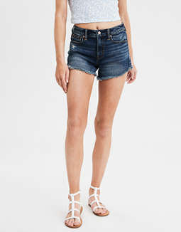 High-Waisted Denim Festival Midi Short