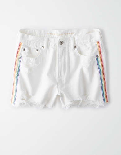 AE Pride Super High-Waisted Denim Festival Short