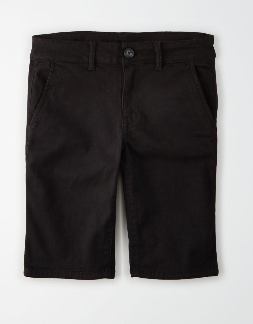 AE Khaki Skinny Bermuda Short