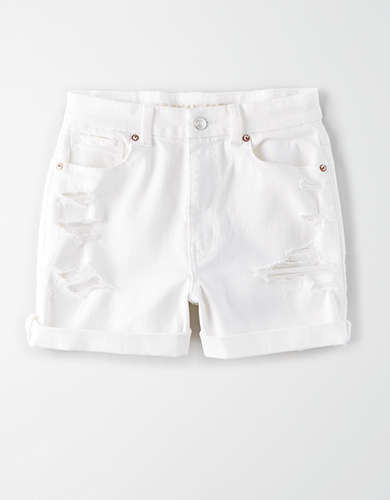 AE Curvy Denim Mom Shorts