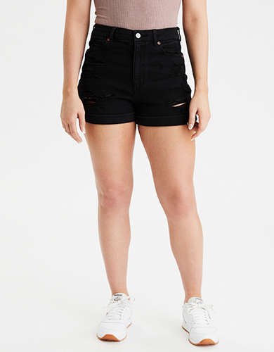 AE Stretch Curvy Denim Mom Short