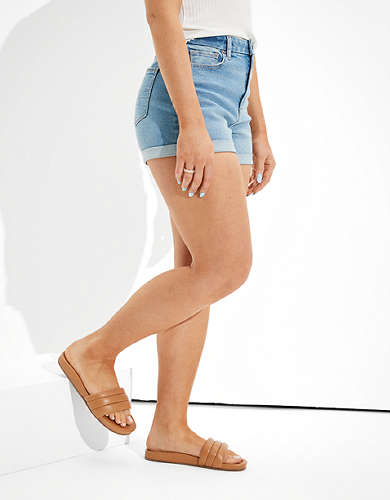AE Stretch Curvy Denim Mom Shorts