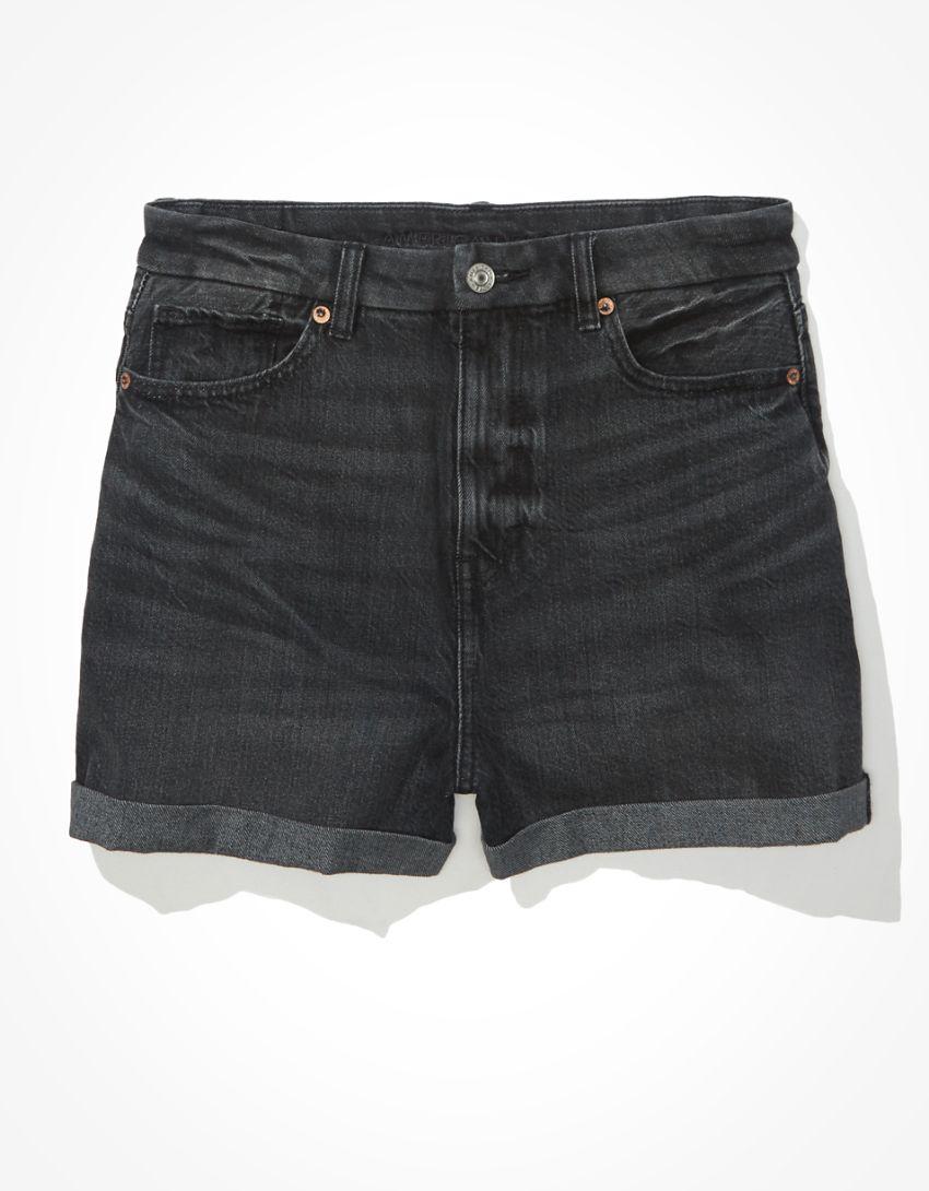 AE Curvy Denim Mom Shorts