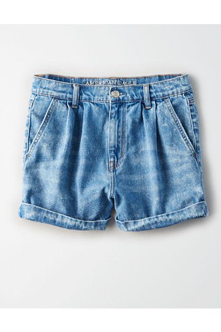Vintage High Waisted Shorts, Sailor Shorts, Retro Shorts Denim Mom Shorts Womens Classic Blue 18 $49.95 AT vintagedancer.com