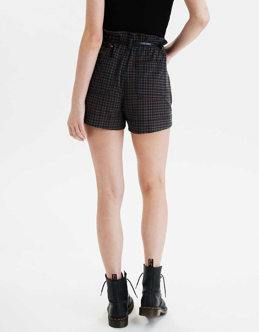 AE Plaid Mom Shorts