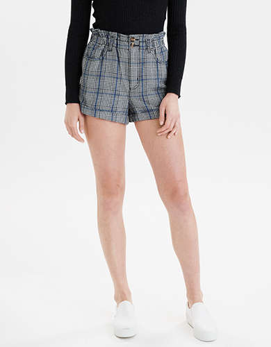 Plaid Mom Shorts