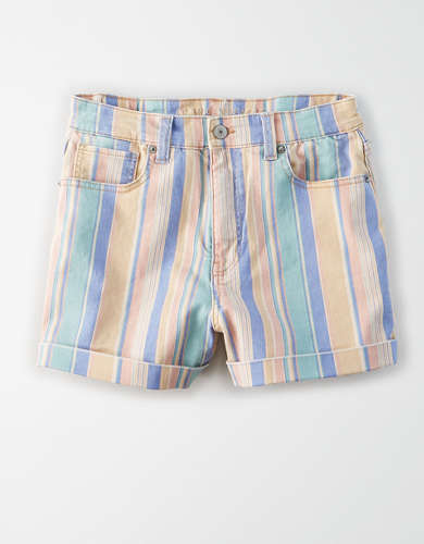 Stretch Denim Mom Shorts