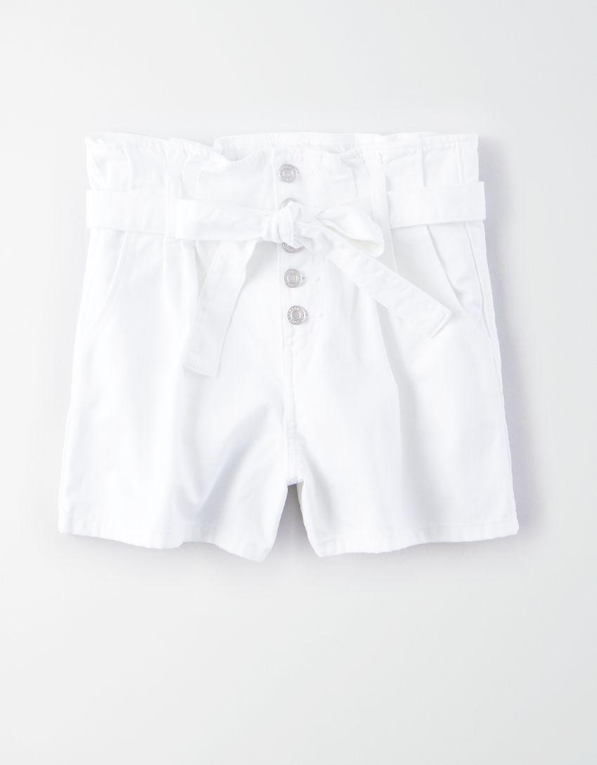 AE Paperbag Denim Mom Shorts