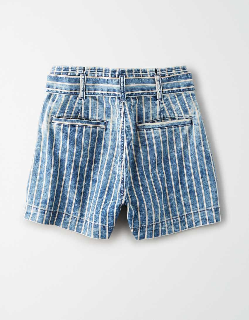 AE Stretch Highest Waist Mom Shorts