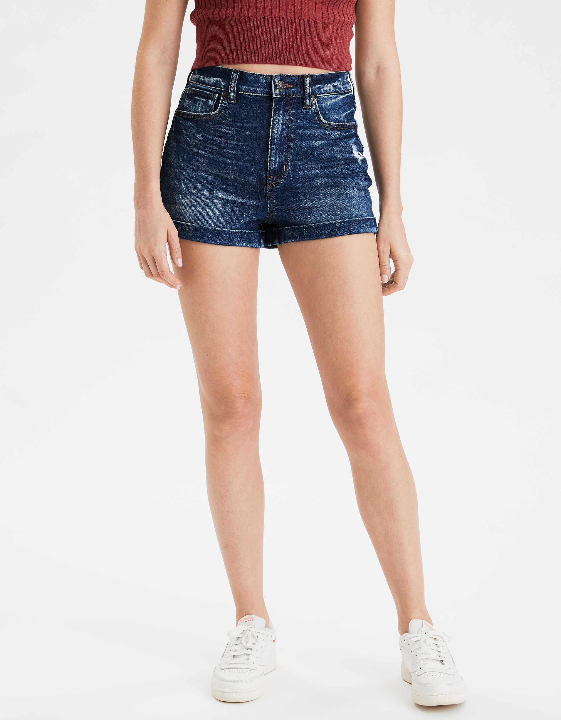 AE Stretch Highest Waist Denim Mom Short