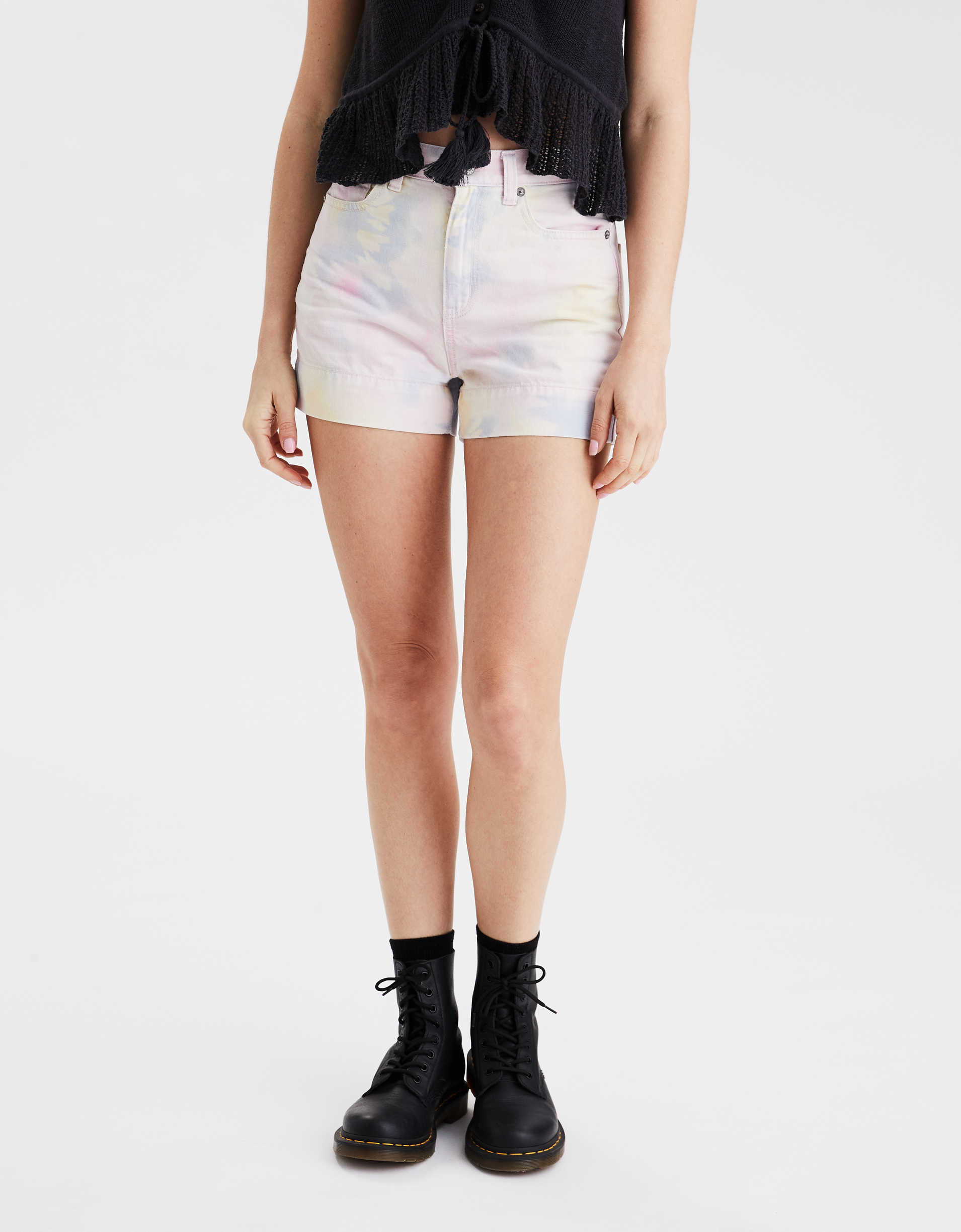 AE Stretch Denim Mom Shorts