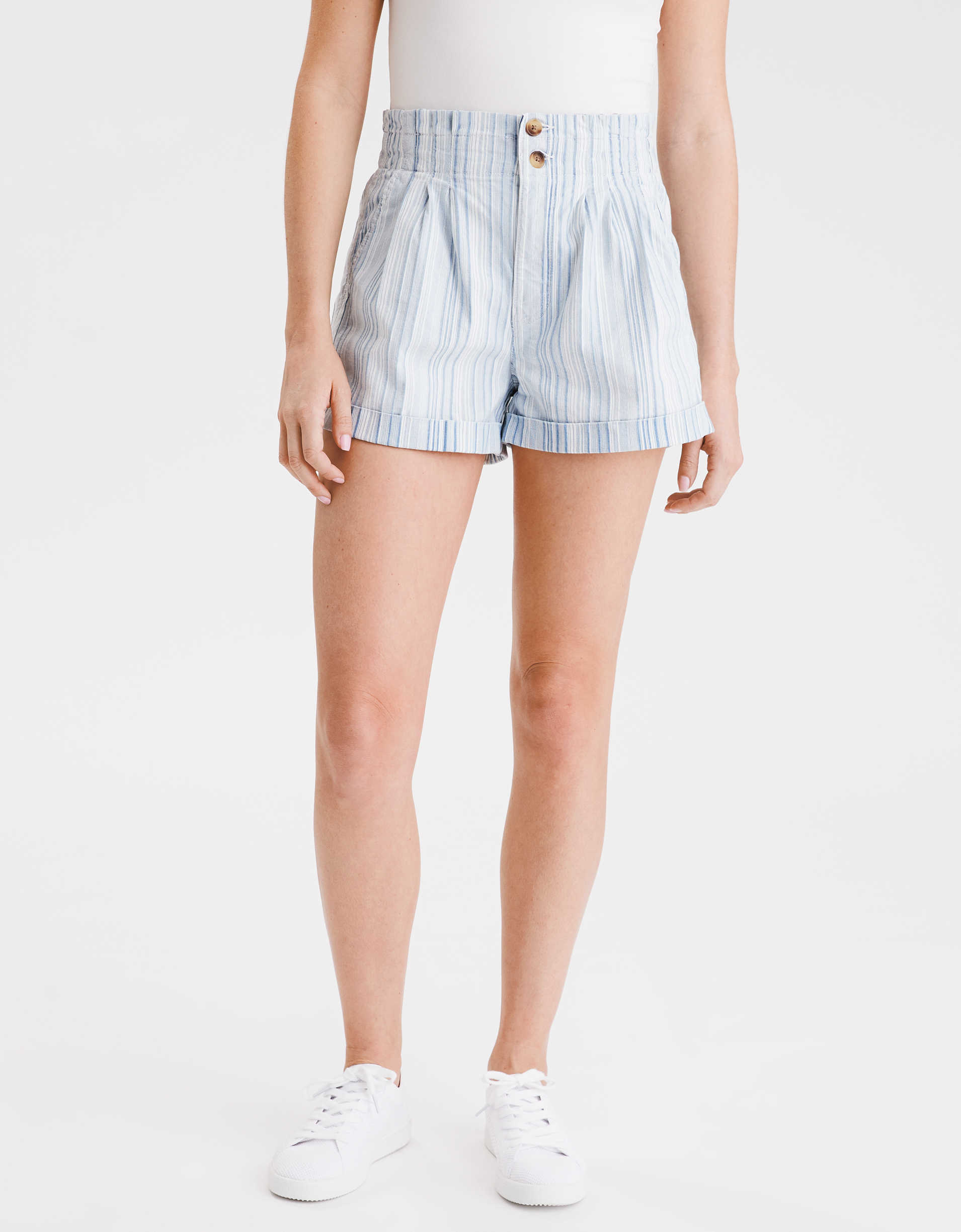 AE Striped Mom Shorts