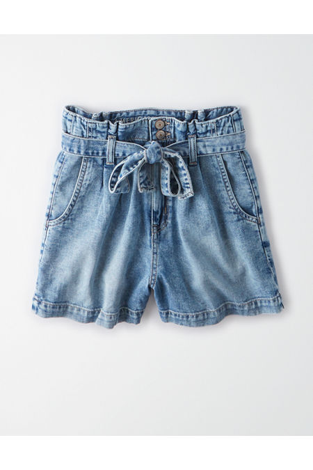 80s Fashion— What Women Wore in the 1980s AE Paperbag Denim Mom Shorts Womens Medium Vintage Wash 000 $59.95 AT vintagedancer.com