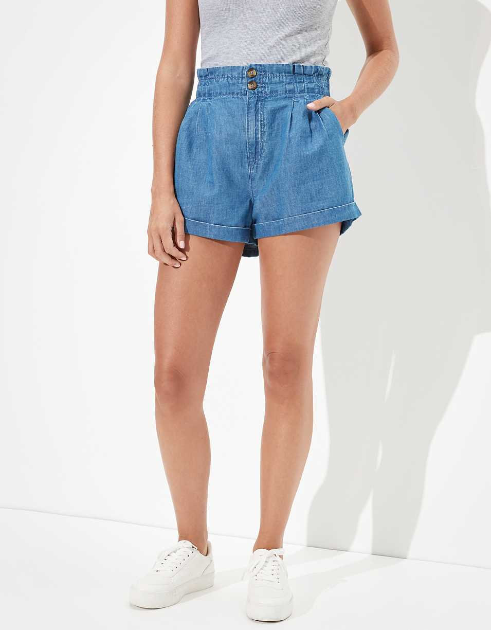 AE Linen Mom Shorts