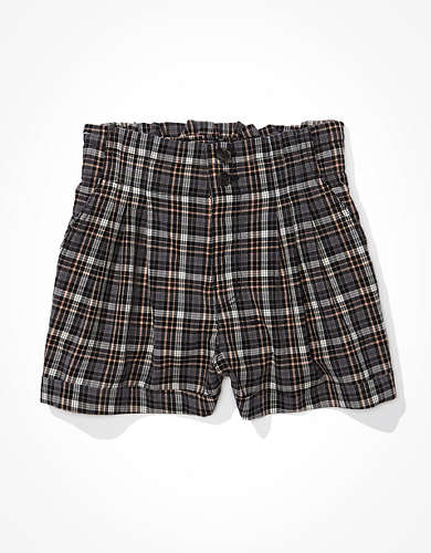 AE Plaid Mom Shorts