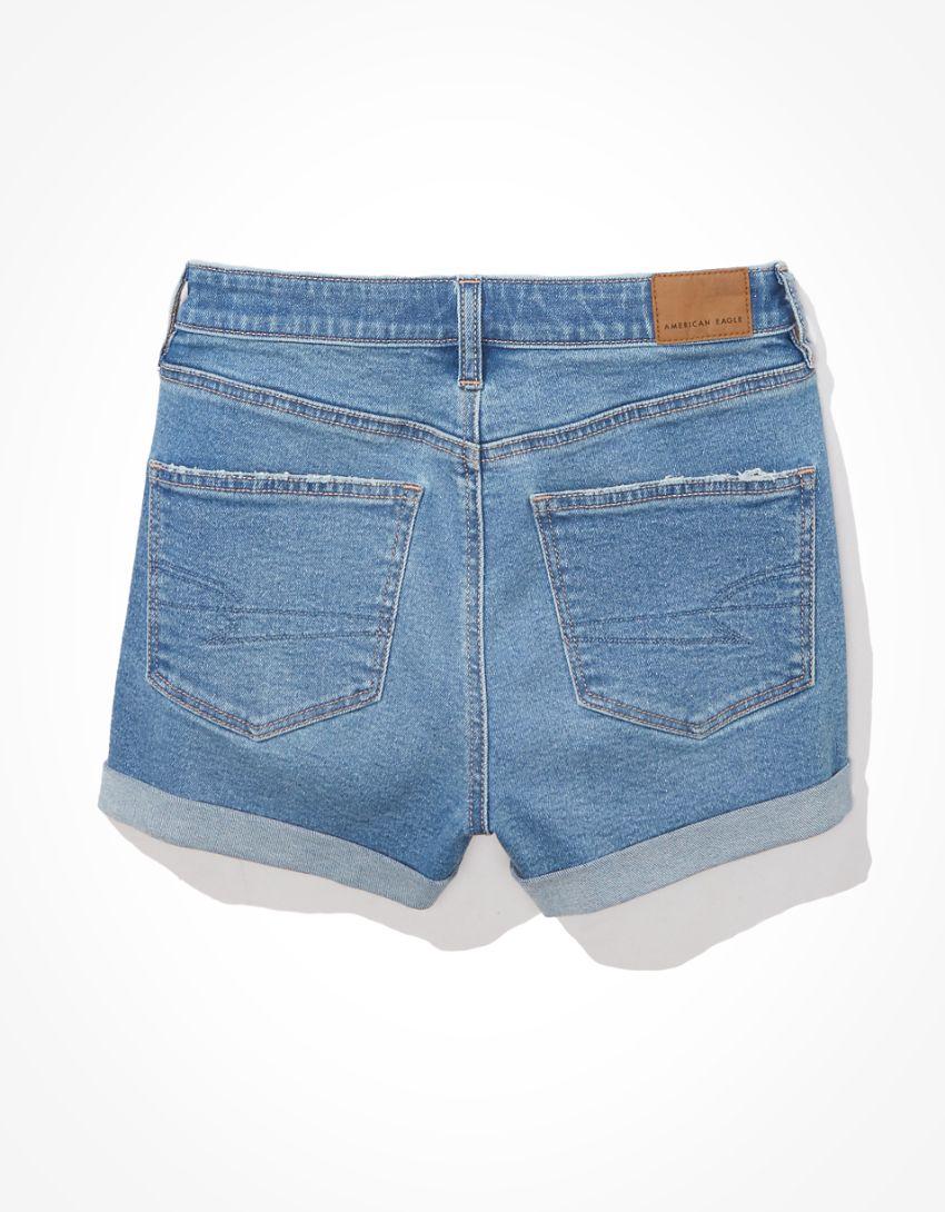 AE Stretch Denim Mom Shorts