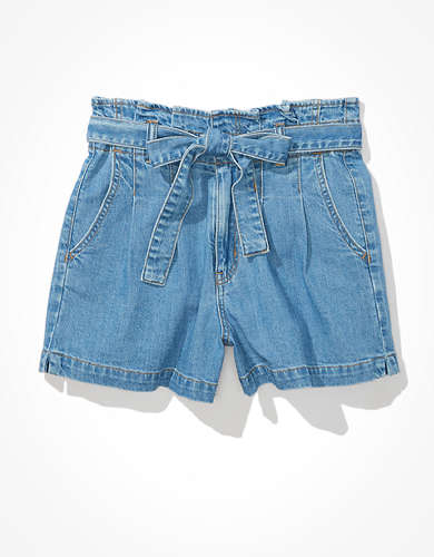 AE Paperbag Denim Mom Short