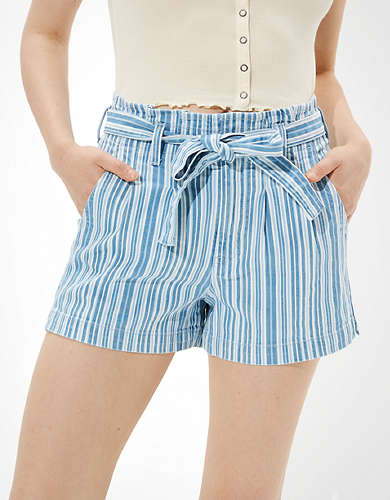 AE Paperbag Denim Mom Shorts
