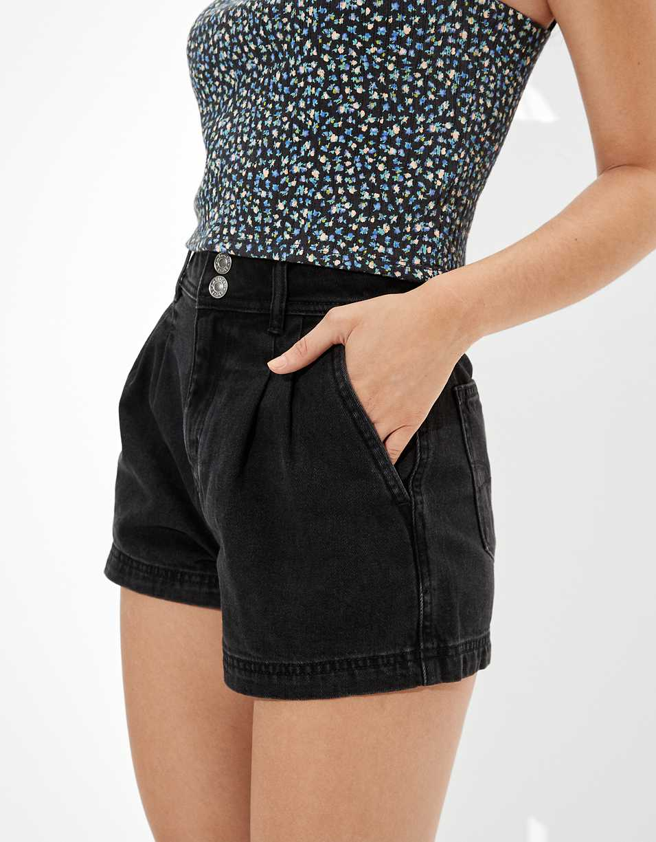 AE Highest Waist Denim Mom Short