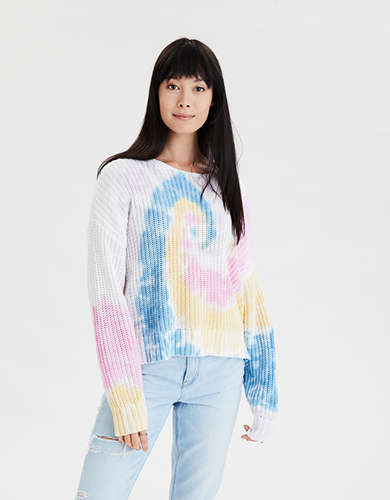 AE Tie Dye Crew Neck Sweater
