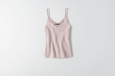 Strappy Ribbed Knit Tank