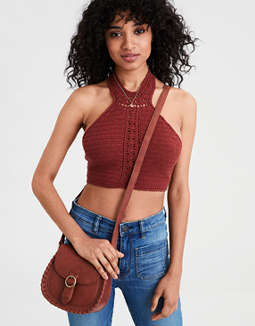 AE Crochet Halter Top