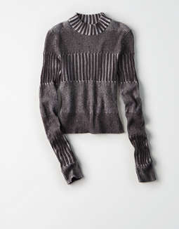 Ae Ribbed Mock Neck Pullover Sweater by American Eagle Outfitters