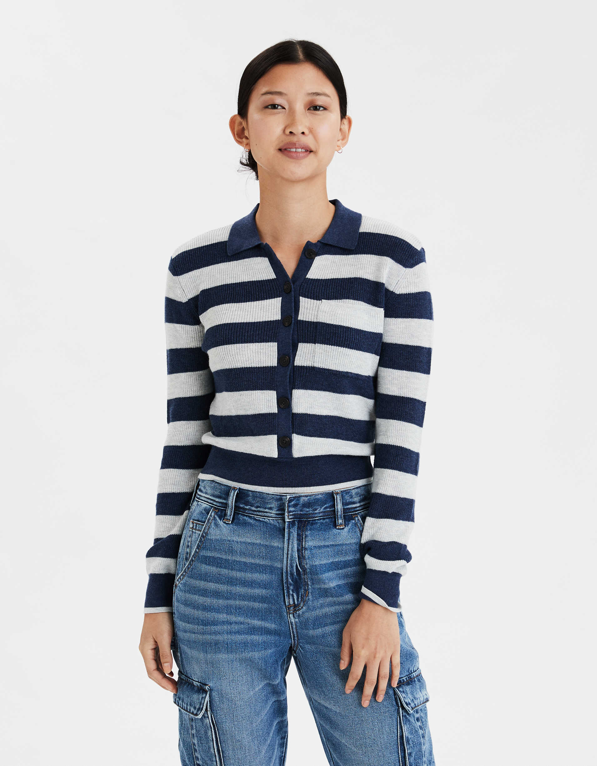 AE Rugby Striped Pullover Sweater