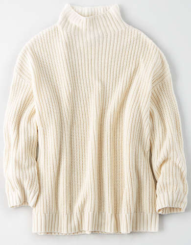 AE Mock Neck Oversized Sweater