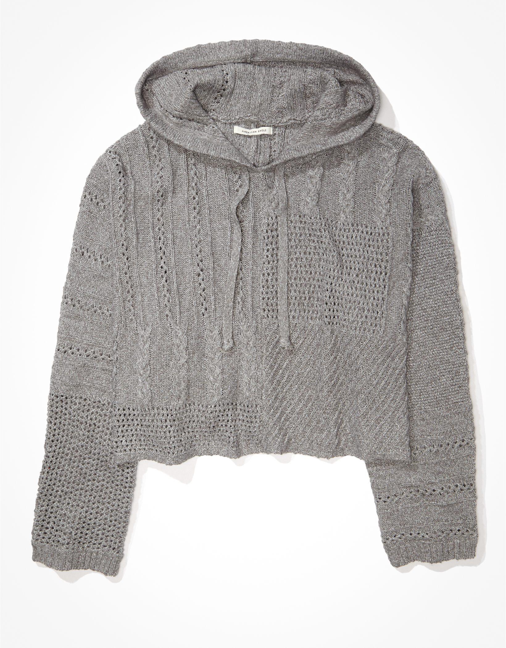 AE Mix Stitch Hooded Sweater
