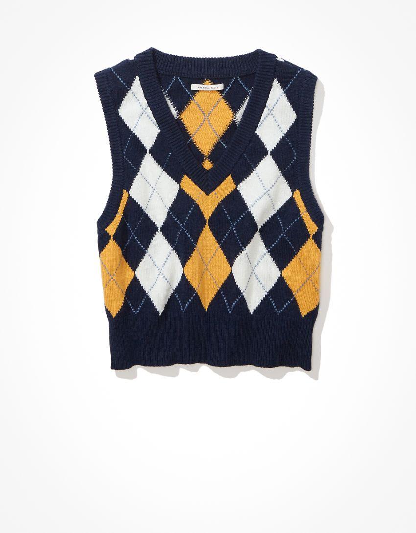 AE Argyle Sweater Vest