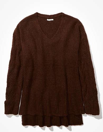 AE Oversized Dreamspun Pointelle Sleeve Sweater