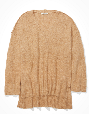 AE Oversized Textured V-Neck Sweater